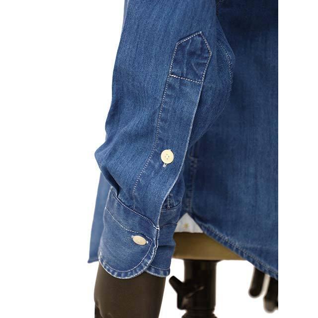 Bagutta【バグッタ】オープンカラーシャツ JOHNNY_GL 08266 050 デニム ウォッシュドインディゴ|cinqueunaltro|05
