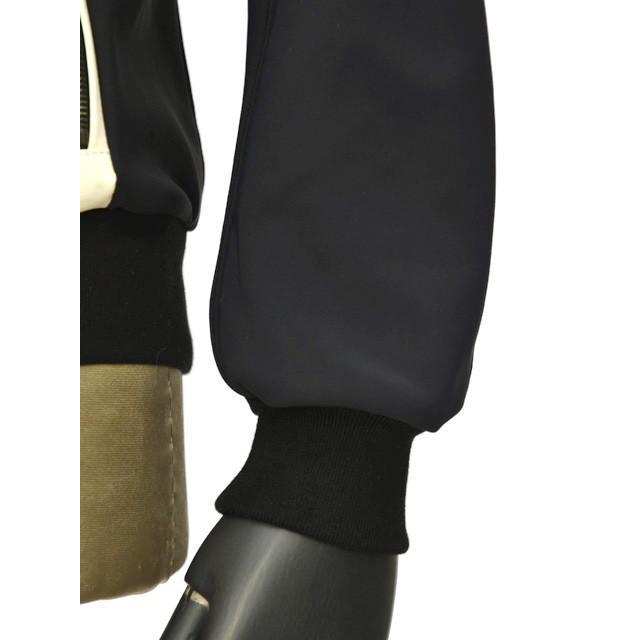 EMMETI【エンメティ】スタジャン型ブルゾン SILAS MONO NS NP ナッパシルク ネオプレーン ブラック ホワイト cinqueunaltro 07