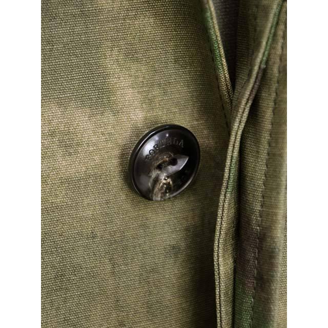 【size S,L】FORTELA【フォルテラ】ステンカラーコート MC-47 00216 GREEN カモフラージュ グリーン ベージュ|cinqueunaltro|05