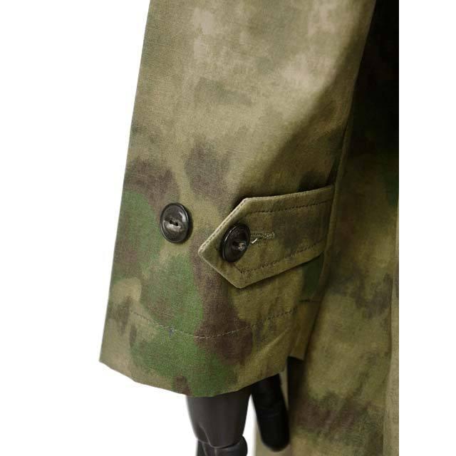 【size S,L】FORTELA【フォルテラ】ステンカラーコート MC-47 00216 GREEN カモフラージュ グリーン ベージュ|cinqueunaltro|06