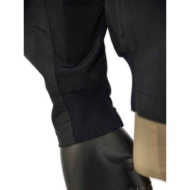 【size02,03】H.I.P.by SOLIDO【エイチアイピーバイ ソリード】MA-1型ブルゾン MSH20S412 ポリエステル ナイロン ブラック cinqueunaltro 06