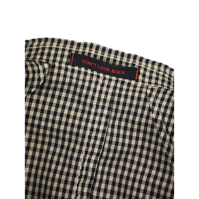 【size44,46】THE GIGI【ザ ジジ】シングルジャケット ART K601 200 コットン ギンガムチェック ブラウン ブラック|cinqueunaltro|07