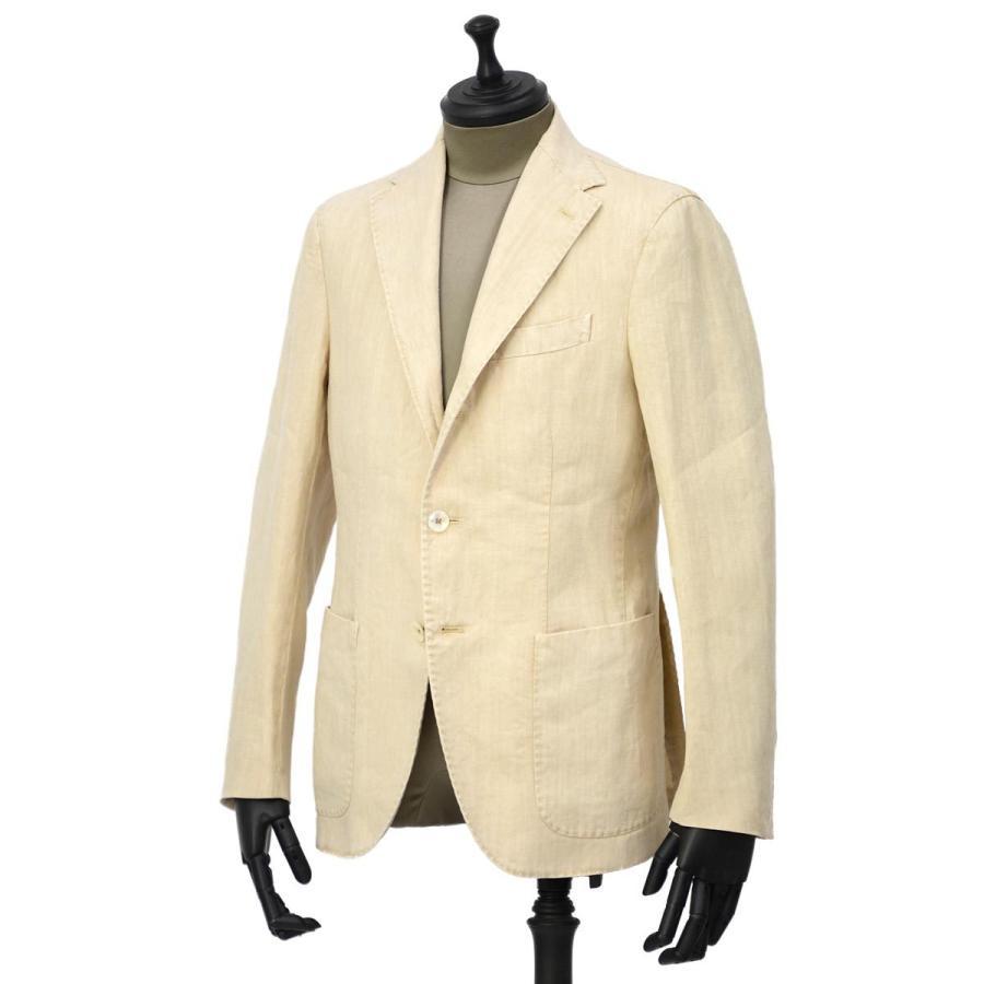 【size46,48,50】THE GIGI【ザ ジジ】シングルジャケット ART K603 200 リネン オフベージュ|cinqueunaltro