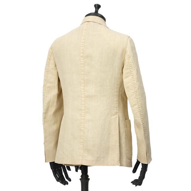 【size46,48,50】THE GIGI【ザ ジジ】シングルジャケット ART K603 200 リネン オフベージュ|cinqueunaltro|02