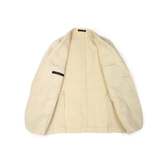 【size46,48,50】THE GIGI【ザ ジジ】シングルジャケット ART K603 200 リネン オフベージュ|cinqueunaltro|03