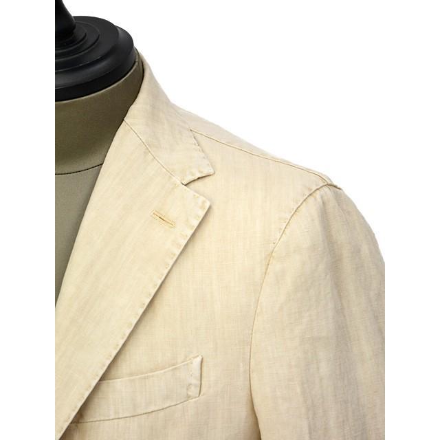 【size46,48,50】THE GIGI【ザ ジジ】シングルジャケット ART K603 200 リネン オフベージュ|cinqueunaltro|04
