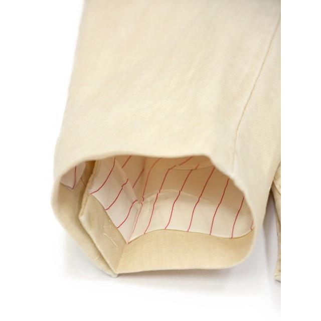 【size46,48,50】THE GIGI【ザ ジジ】シングルジャケット ART K603 200 リネン オフベージュ|cinqueunaltro|07