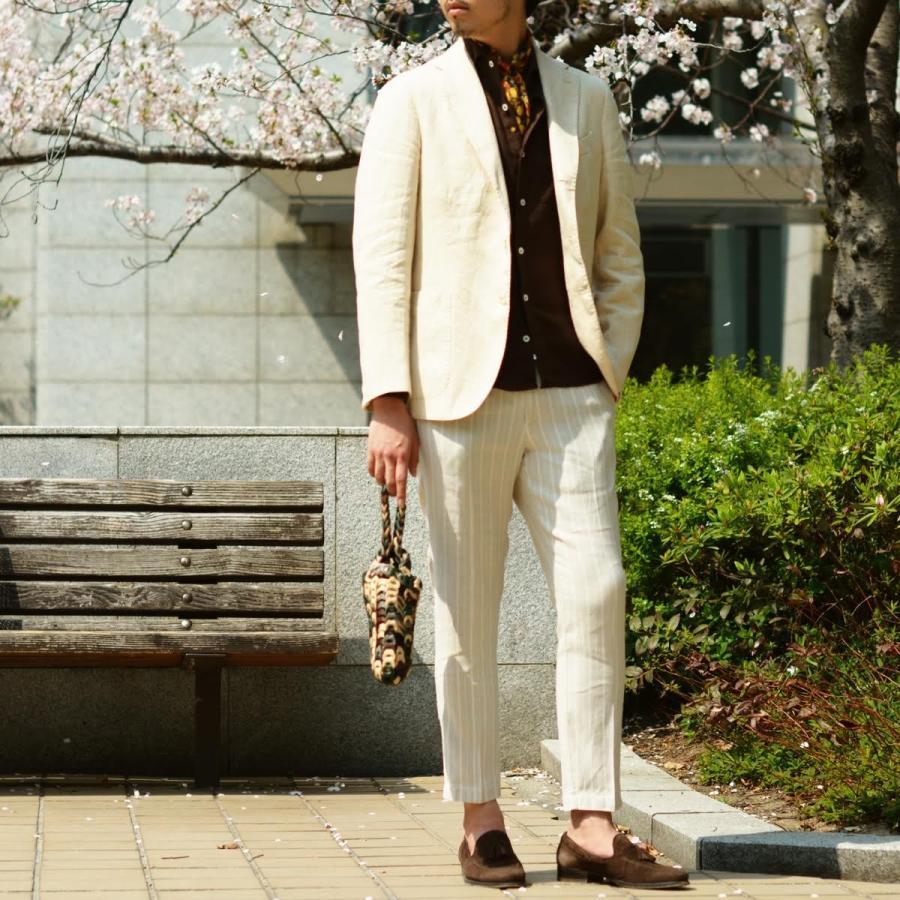 【size46,48,50】THE GIGI【ザ ジジ】シングルジャケット ART K603 200 リネン オフベージュ|cinqueunaltro|09