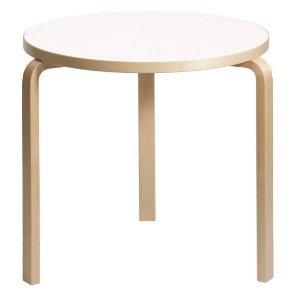 Artek アルテック 家具 90Bテーブル ホワイト ラミネート 172001 【大型家具】 ※納期は受注後お知らせ致します。