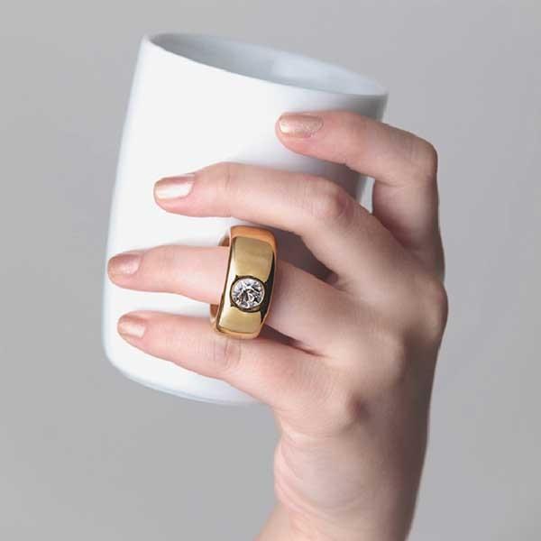 Floyd フロイド Cup Ring カップリング White / Silver ホワイト /シルバー  FL01-00401  citron-g 02