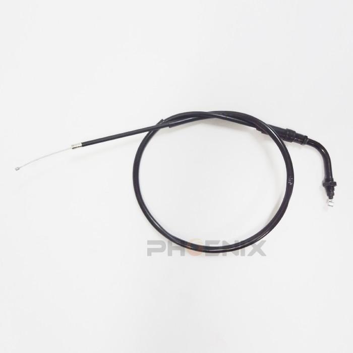 ホンダ バイク エイプ APE 社外 アクセル ワイヤー ケーブル 純正長 約870mm 黒 ck-custom
