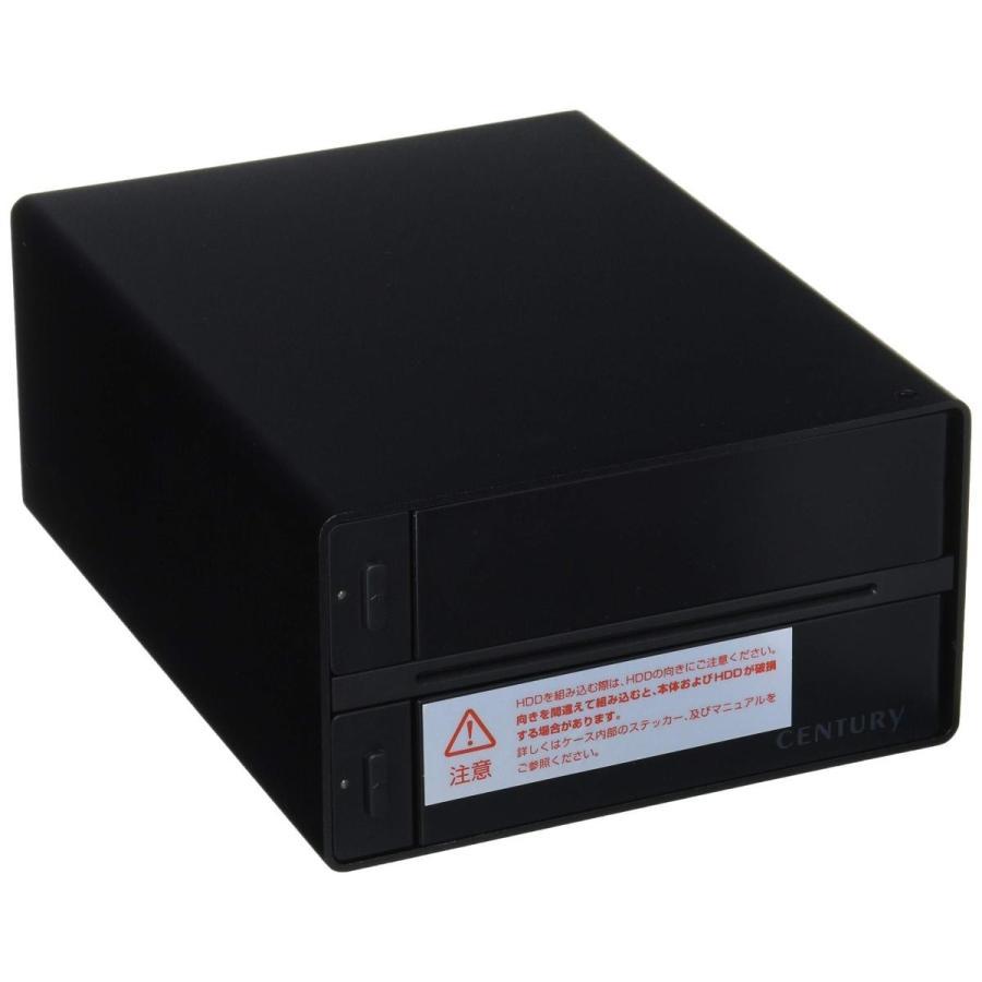 センチュリー 裸族のテラスハウス RAID SATA6G USB3.0/eSATA接続ケース CRTS35EU3RS6G