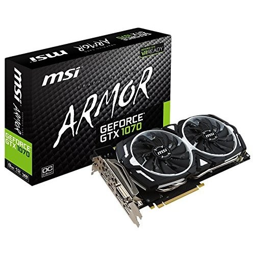 MSI GeForce GTX 1070 ARMOR 8G OC グラフィックスボード VD6083 条件付き 送料無料
