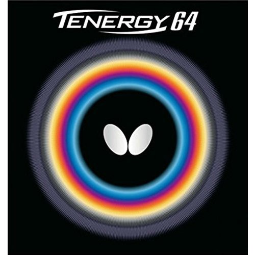 バタフライ(Butterfly) 卓球 ラバー テナジー・64 裏ソフト テンション (スピン) 05820 ブラック 中 送料無 条件付き 送料無料