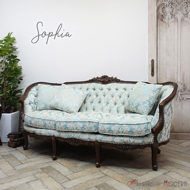トリプルソファ ソフィア ソフィア 長椅子 アンティーク クラシック エレガント かわいい プリンセス リビング ホテル フロア 1008-3-5F66B
