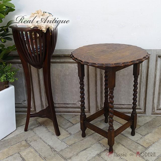 リアルアンティーク サイドテーブル 1920年頃 オーク材 イギリス antique54990c