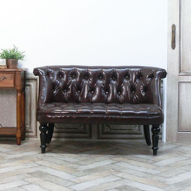 ダブルソファ ラムズゲイト 長椅子 アンティーク かわいい  ボタンダウン エレガント クラシック ローソファ レトロ シャビー AJ2P38K|classic-de-modern|04