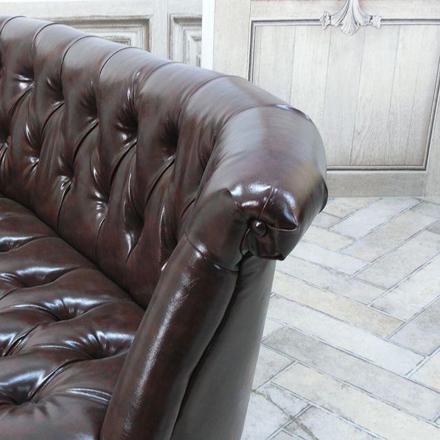 ダブルソファ ラムズゲイト 長椅子 アンティーク かわいい  ボタンダウン エレガント クラシック ローソファ レトロ シャビー AJ2P38K|classic-de-modern|06