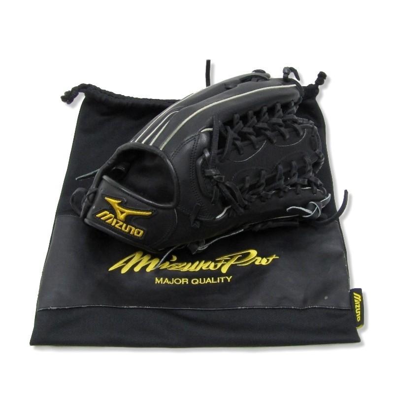 良品 MIZUNO PRO ミズノプロ 硬式グラブ 外野手用 野球グローブ バイオソウルテクノロジー ブラック 黒 ミズノ メンズ 中古 30008652