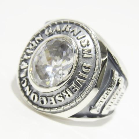 注目ブランド 未使用 GARNI ガルニ Ism College Ring L CL カレッジ リング 17号 ラージ GR17002 イズム ジルコニア SV925 シルバー 指輪【】50005558, ファッションウォーカー 3636556e
