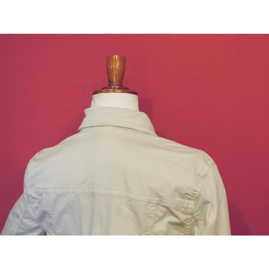40%OFF イタリア製コットンカラージャケット レディース Gジャン ジージャン ベージュ ショート丈 海外ブランド 新品 未使用 classica 07