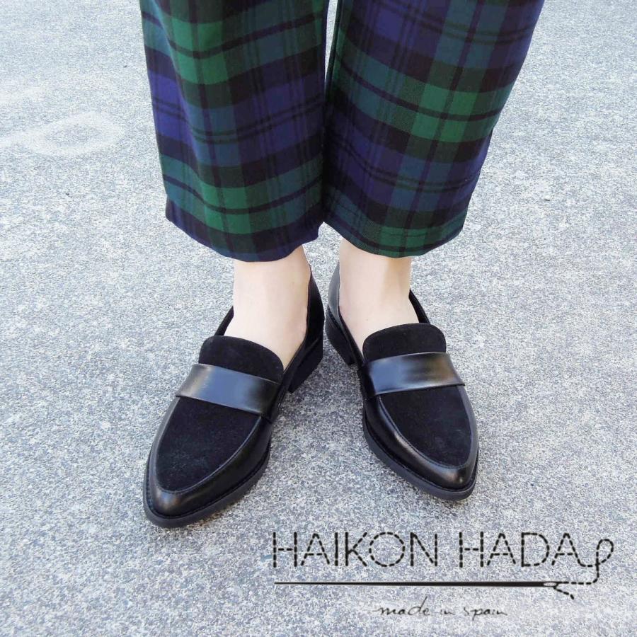 30%OFF HAIKONHADA アイコンアダ レザーローファー 39 24.5cm レディース ブラック 黒 海外ブランド 新品 未使用|classica