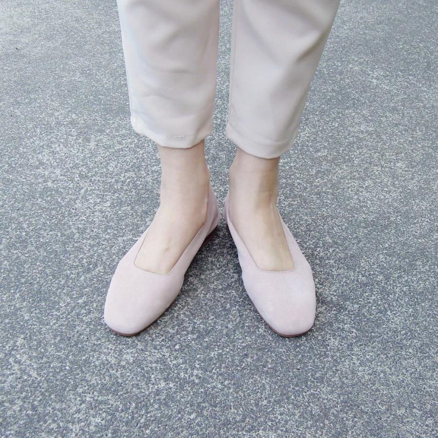 イタリア製 スエードフラットシューズ レディース 37 23.5cm 靴 パンプス  新品 未使用 ベージュ 通販 Stilmoda おしゃれ 春 秋|classica
