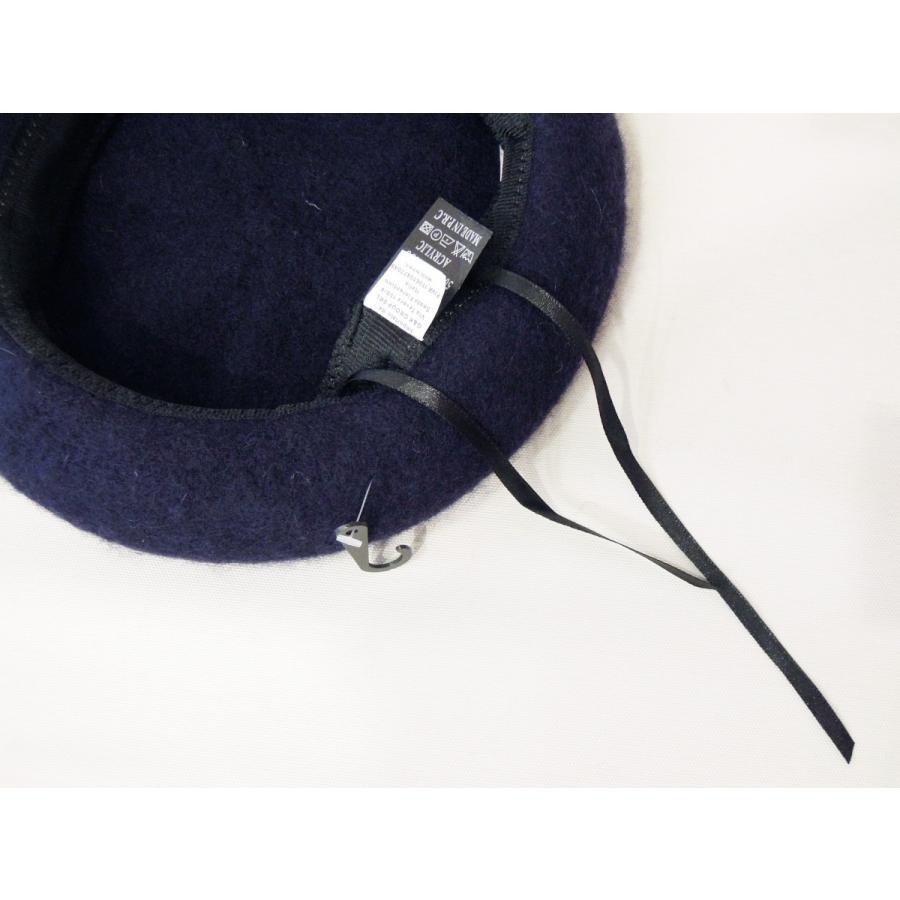 30%OFF イタリア ウールベレー帽 レディース メンズ 兼用 新品 未使用 帽子 秋 冬 ニット ネイビー 紺 無地 フェルト 通販|classica|07