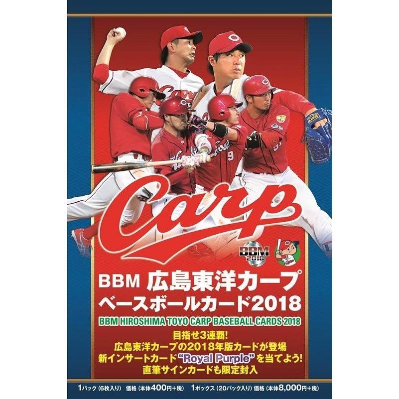 BBM広島東洋カープベースボールカード2018 1カートン(12ボックス)