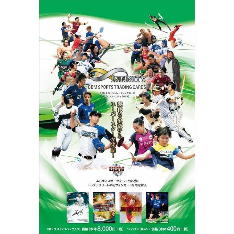 【予約】 BBMスポーツトレーディングカード インフィニティ2019 1カートン(12ボックス) 【10月下旬発売予定】