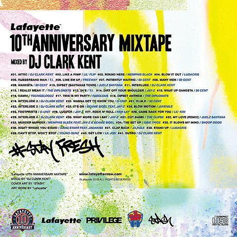 Lafayette ラファイエット 10th ANNIVERSARY MIXTAPE / mixed by DJ CLARK KENT ミックスCD|clickstarwaks|02