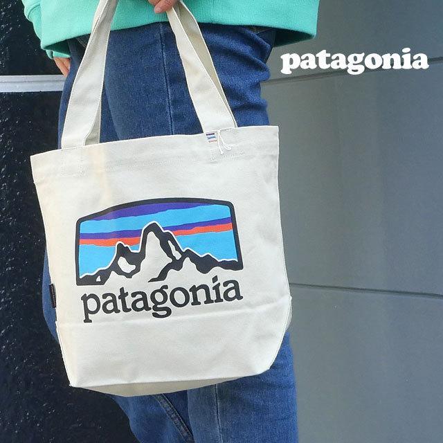 新品 パタゴニア Patagonia P-6 Logo Mini Tote トートバッグ エコバッグ Pastel P-6 Logo Bleached Stone ベージュ FRHB 59275 277002706016 グッズ|cliffedge