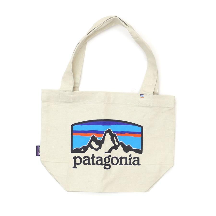 新品 パタゴニア Patagonia P-6 Logo Mini Tote トートバッグ エコバッグ Pastel P-6 Logo Bleached Stone ベージュ FRHB 59275 277002706016 グッズ|cliffedge|02
