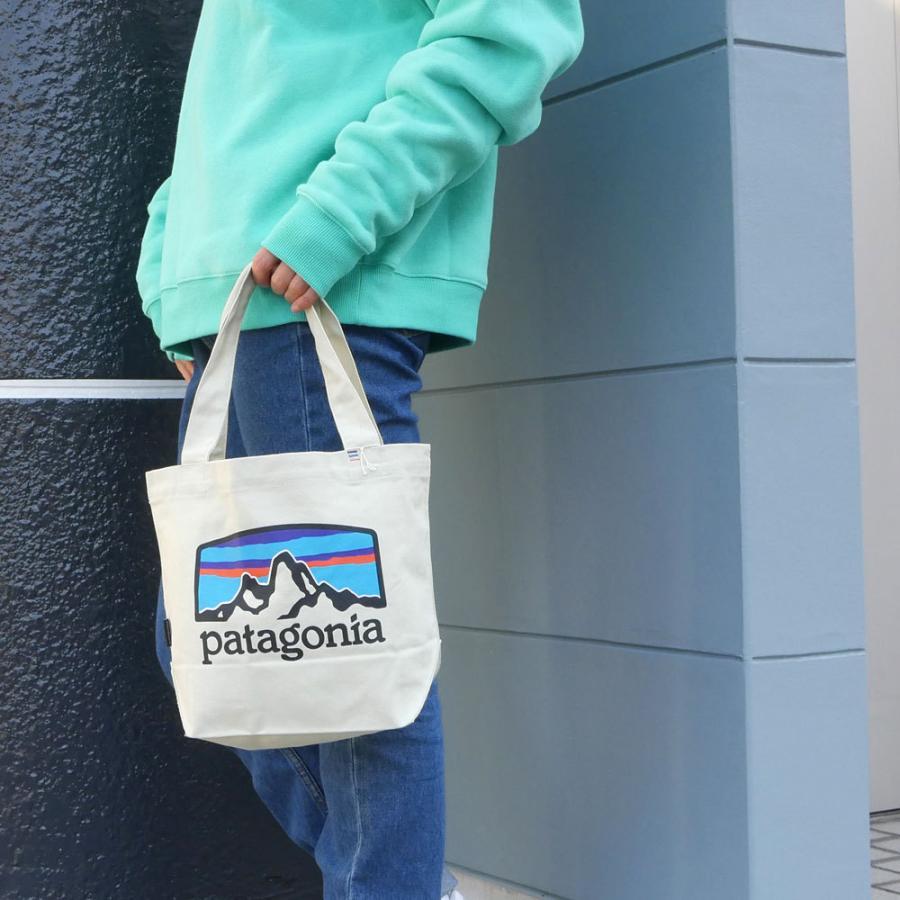 新品 パタゴニア Patagonia P-6 Logo Mini Tote トートバッグ エコバッグ Pastel P-6 Logo Bleached Stone ベージュ FRHB 59275 277002706016 グッズ|cliffedge|08
