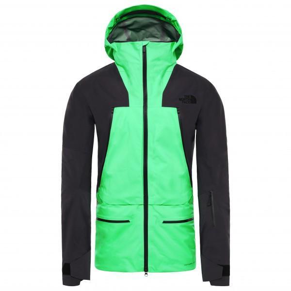 ザ・ノース・フェイス Purist スキージャケット(Chlorophyll 緑 / Weathe赤 黒)