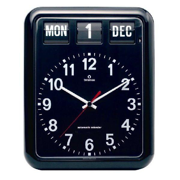 TWEMCOカレンダー掛け時計 BQ-12A ブラック