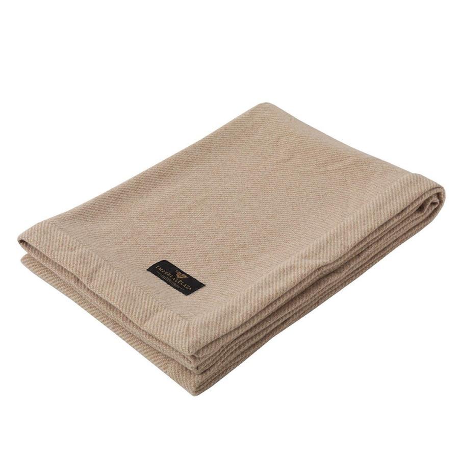 東京西川 インペリアルプラザ フカキクォリティ 日本製 カシミヤニットブランケット 毛布 シングル ベージュ FQ07152001BE