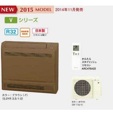 ###ダイキン ハウジングエアコン【S50RVV T】ブラウン Vシリーズ 床置形 16畳程度 単相200V(旧品番S50NVV T)