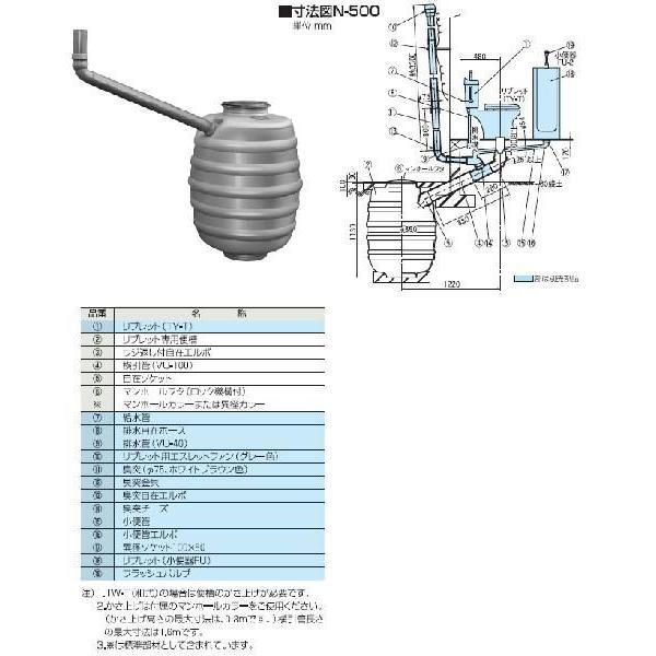 セキスイ【THN008】N型専用便槽一般タイプ N 800型
