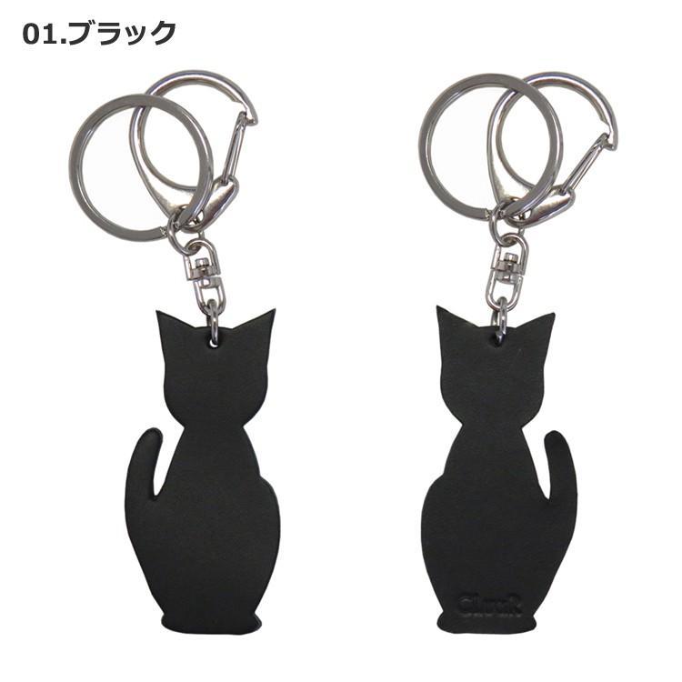 名入れ可 猫チャームキーホルダー キーリング バッグチャーム 本革 レザー 革 日本製 メンズ レディース 父の日ラッピング無料 2021 プレゼント cluar 02