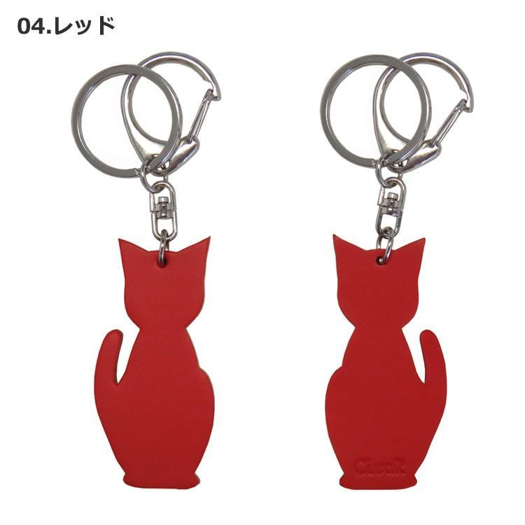 名入れ可 猫チャームキーホルダー キーリング バッグチャーム 本革 レザー 革 日本製 メンズ レディース 父の日ラッピング無料 2021 プレゼント cluar 05