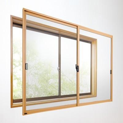 セイキ販売 断熱内窓 楽窓2 2枚建パネル 3mm厚タイプ 透明・マットグリーン・グレースモーク 幅2001〜2200mm/高さ551〜750mm