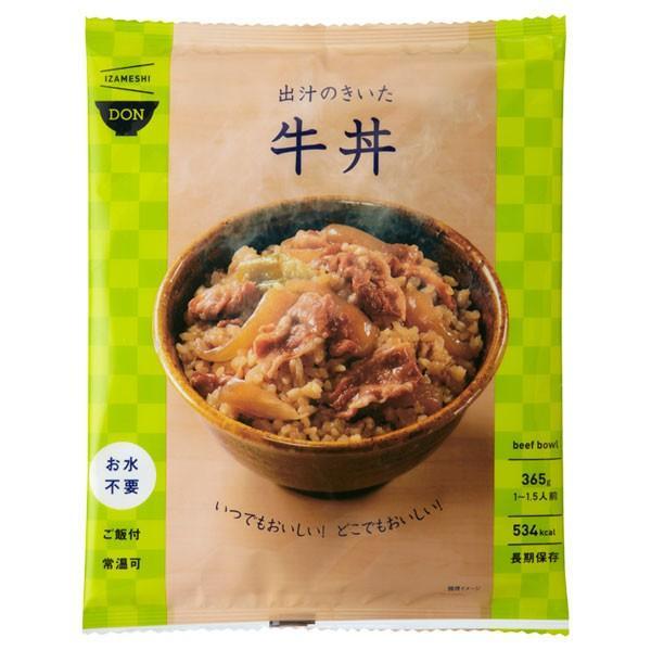 IZAMESHI(イザメシ) DON(丼) 出汁のきいた牛丼(長期保存食/3年保存/DON(丼)) 非常食 保存食 備蓄食|clubestashop|02