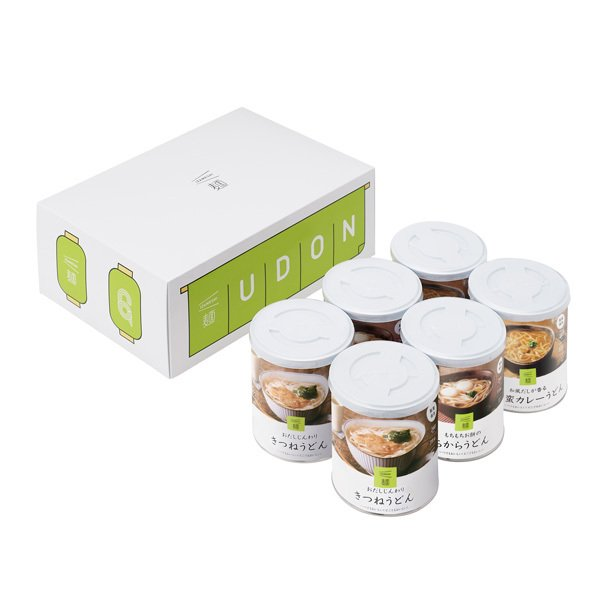 IZAMESHI(イザメシ) うどん6缶セット (長期保存食/3年保存/麺) 非常食 保存食 備蓄食 clubestashop 02