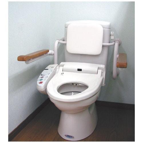 トイレ用背もたれ付手すり壁付タイプ
