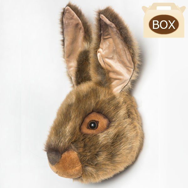 WILD&SOFT(ワイルドアンドソフト) アニマルヘッド 野ウサギ 専用ボックス入り
