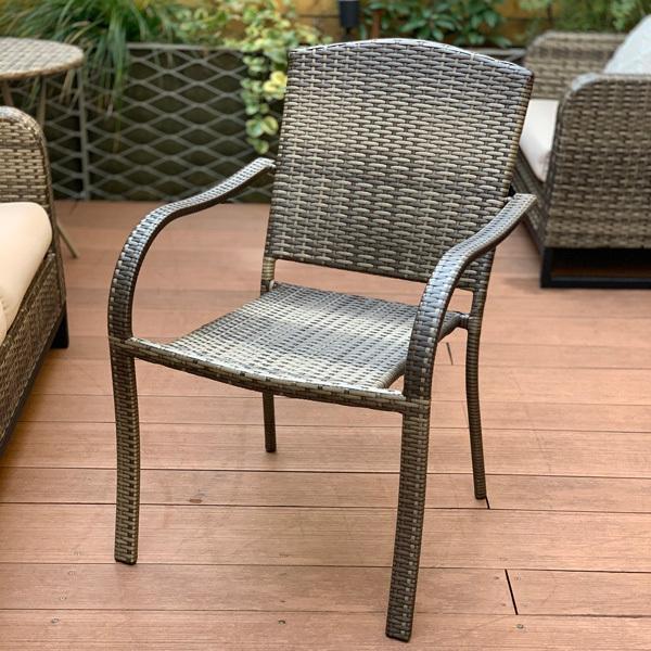 PATIO PETITE(パティオプティ) SAHARA サハラ・スタッキングチェア2 椅子 屋外用家具 人工ラタン いす アウトドア ガーデン チェア テラス バルコニー アジアン|clubestashop|02