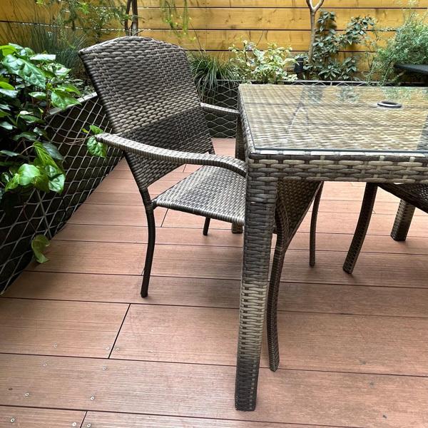 PATIO PETITE(パティオプティ) SAHARA サハラ・スタッキングチェア2 椅子 屋外用家具 人工ラタン いす アウトドア ガーデン チェア テラス バルコニー アジアン|clubestashop|07