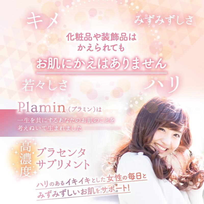 プラセンタ サプリ ビタミンC ヒアルロン酸 コラーゲン セラミド サプリメント プラミン 60粒30日分 cm-japan 09