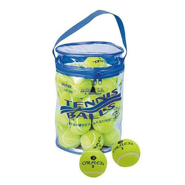 ●(送料無料)(代引不可)CALFLEX カルフレックス 一般用硬式テニスボール 30球入 LB-30「他の商品と同梱不可/北海道、沖縄、離島別途送料」
